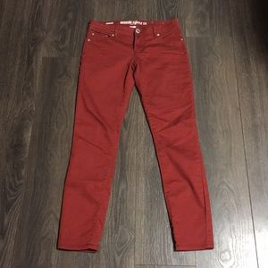 Mossimo Supply Co. Rusty Red Skinny Jeans